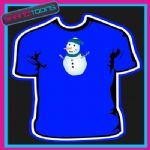 SNOWMAN CHRISTMAS TSHIRT CHILDRENS MENS & LADIES SIZES